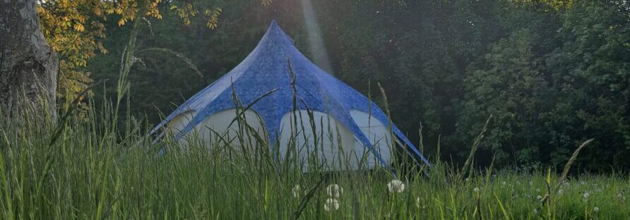 One of our beautiful lotus bell tents